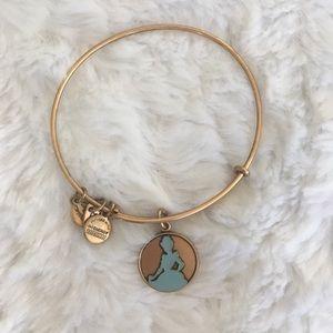 alex and ani / cinderella adjustable gold bracelet